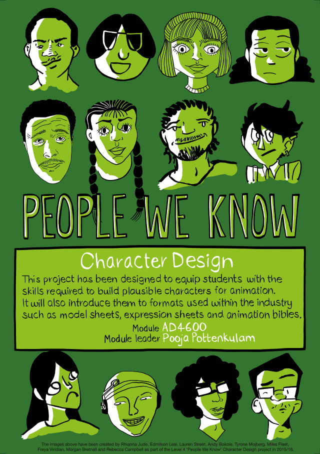 People We Know - Character design