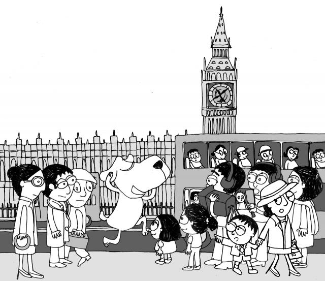 The Stupendous Timetelling Superdog illustration